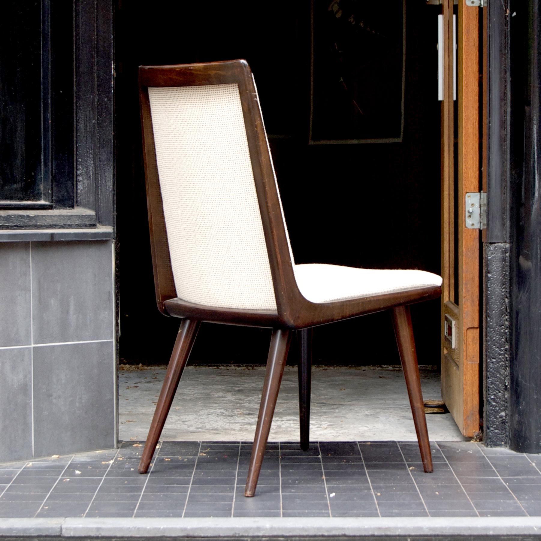 Vintage eetkamerstoel - nieuw gestoffeerd - prijs per vier ...