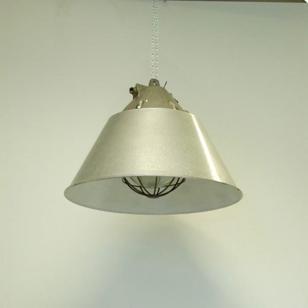Industriele Kooilamp met metalen kap, vintage