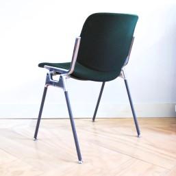 Zes vintage castelli dsc 106 stoelen van ontwerper for Groene stoel