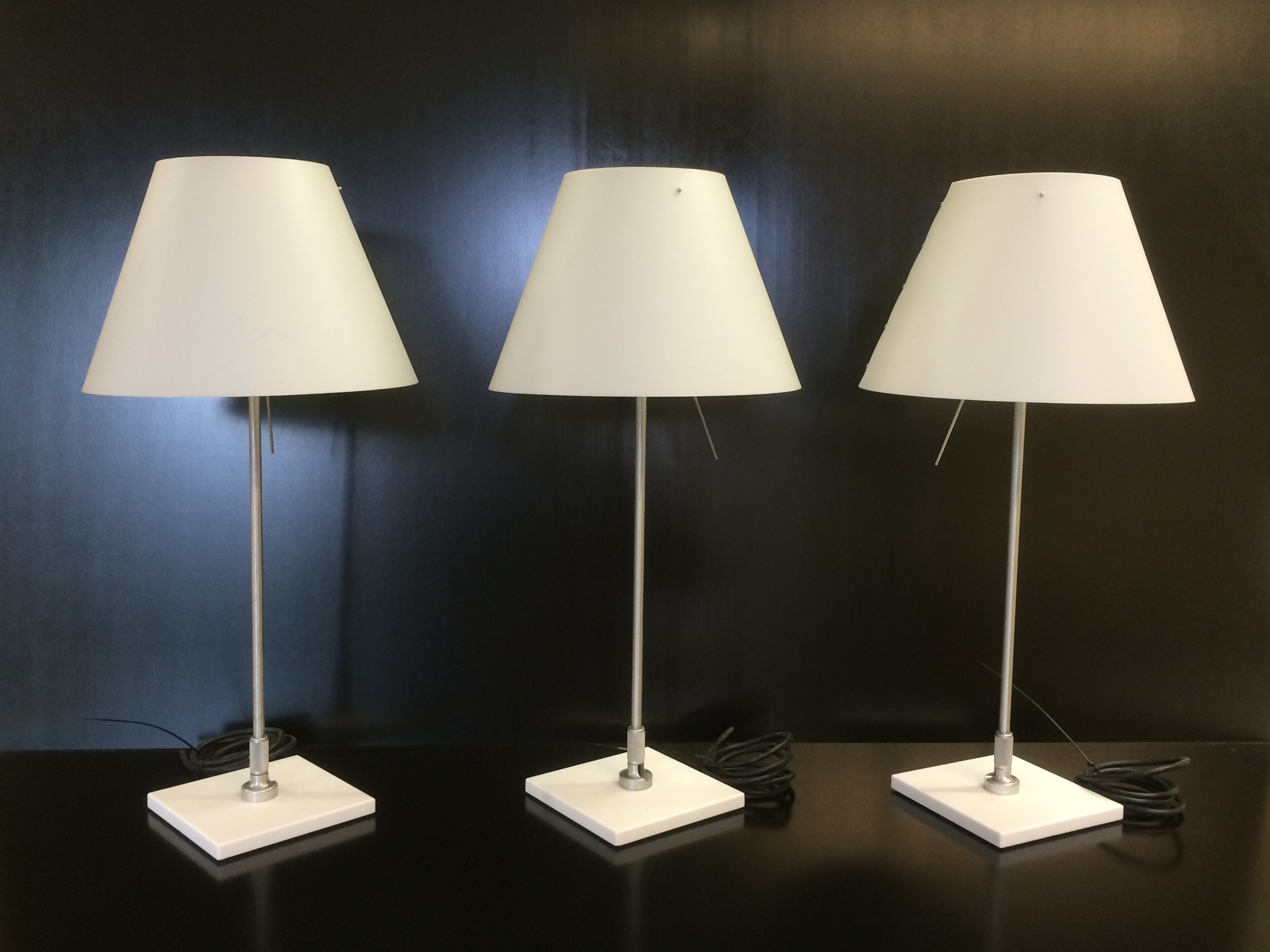 Luceplan Costanzina tafellampen op rij