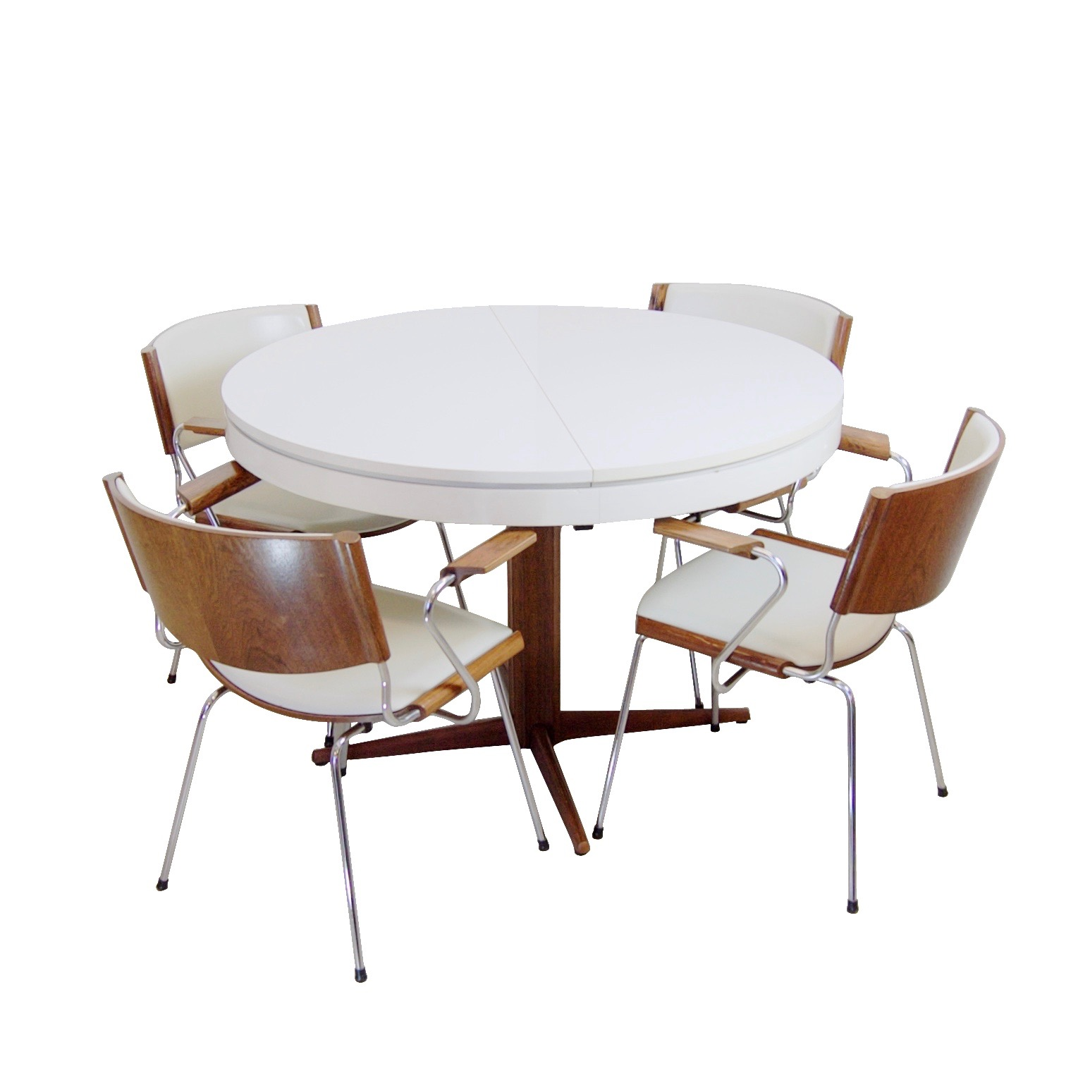 Nanna Ditzel voor Kolds Savvaerk – eetkamertafel met 4 stoelen (1)